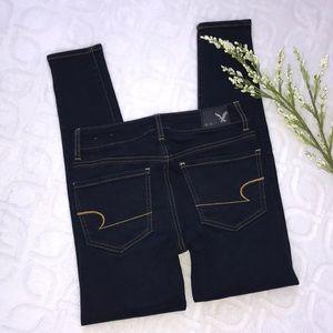 AMERICAN EAGLE Dark Jegging Jeans Size 2 Short